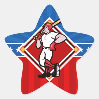 Talud del béisbol pegatina en forma de estrella