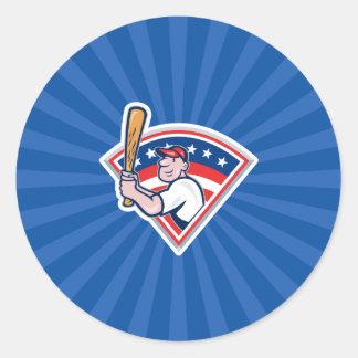 Talud del béisbol pegatina redonda