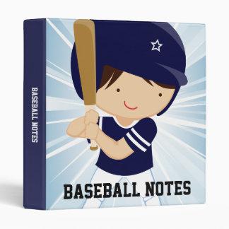 """Talud del muchacho del béisbol en azul y blanco carpeta 1"""""""