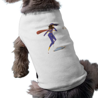 Talud del softball camisetas de perrito