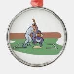 talud para arriba que espera diseño del béisbol de ornamento de navidad