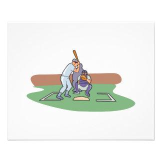 talud para arriba que espera diseño del béisbol de flyer a todo color