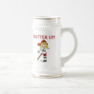 Talud rojo del texto encima del camisetas y de los jarra de cerveza