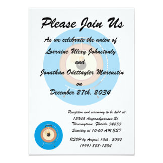 tam tam gong on stand blue around.png 5x7 paper invitation card