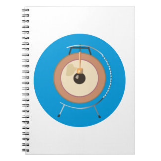 tam tam gong on stand blue around.png spiral notebook