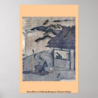 Tama River in Chofu by Kitagawa, Utamaro Ukiyoe Posters