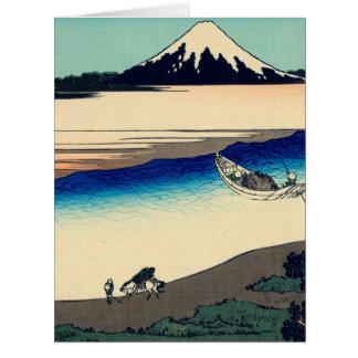 Tama River in Musashi Province Card