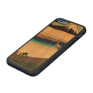 Tama River in Musashi Province Carved Cherry iPhone 6 Bumper Case