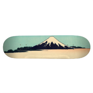 Tama River in Musashi Province Skateboard Deck