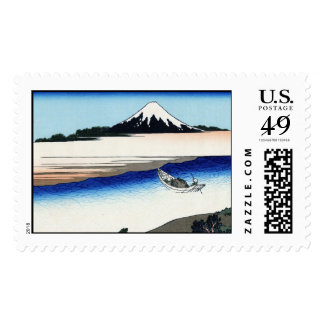 Tama river in the Musashi province Hokusai Stamps