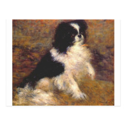 Tama the japanese dog by Pierre-Auguste Renoir Postcard