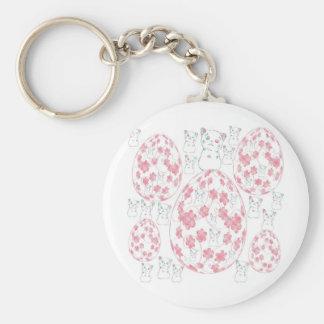tamago and invitation cat basic round button keychain