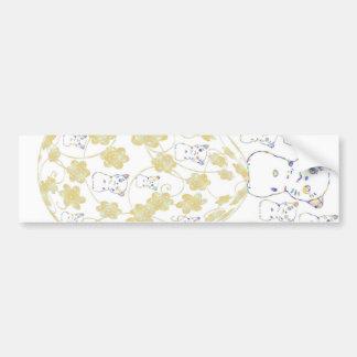tamago and invitation cat bumper sticker