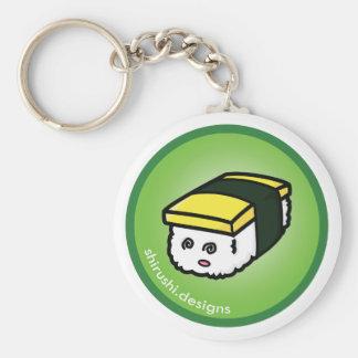 Tamago Sushi Basic Round Button Keychain
