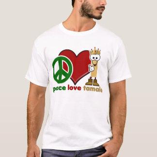 Tamal de encargo del amor de la paz playera