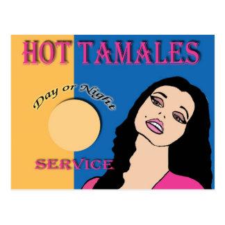Tamales calientes tarjetas postales