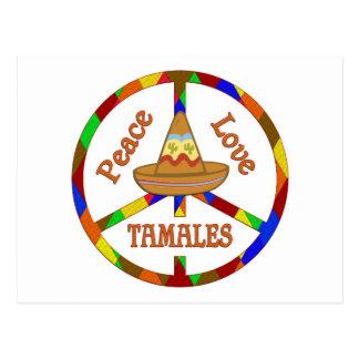 Tamales del amor de la paz postal