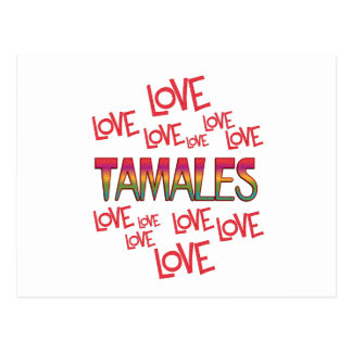 Tamales del amor del amor postales