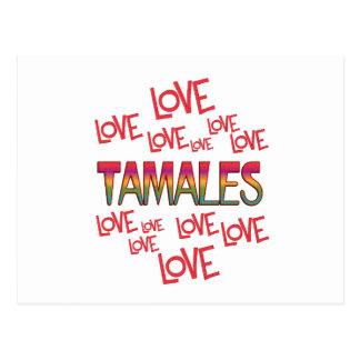 Tamales del amor del amor tarjetas postales