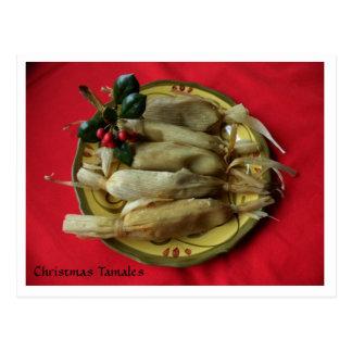 Tamales del navidad tarjetas postales