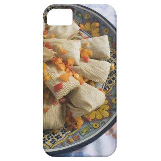Tamales en la placa decorativa funda para iPhone 5 barely there