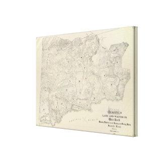Tamalpais Land and Water Company map Canvas Print