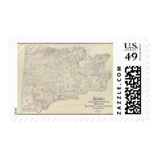 Tamalpais Land and Water Company map Postage