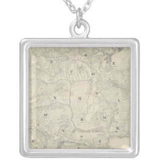 Tamalpais Land and Water Company map Silver Plated Necklace