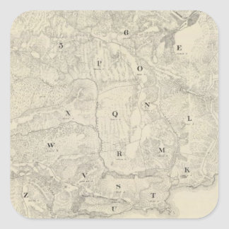 Tamalpais Land and Water Company map Square Sticker