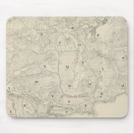 Tamalpais Land y mapa de Water Company Mousepad