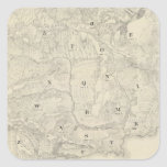 Tamalpais Land y mapa de Water Company Pegatina Cuadrada