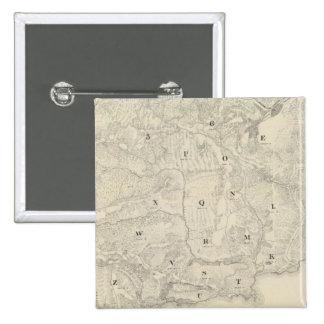 Tamalpais Land y mapa de Water Company Pin Cuadrada 5 Cm