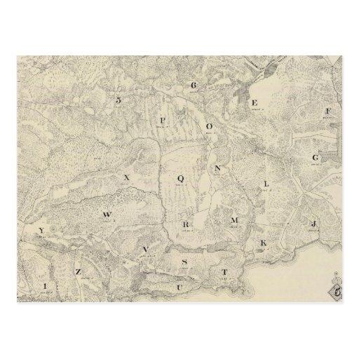 Tamalpais Land y mapa de Water Company Postal