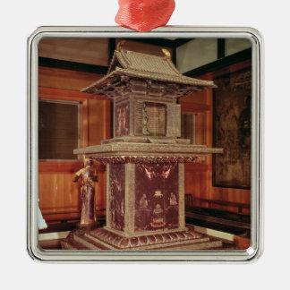 Tamamushi shrine from the Horyu Ji Temple Christmas Ornament