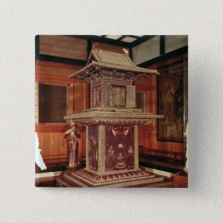 Tamamushi shrine from the Horyu Ji Temple Pinback Button