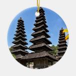 Taman Ayun Temple, Bali Adorno Navideño Redondo De Cerámica