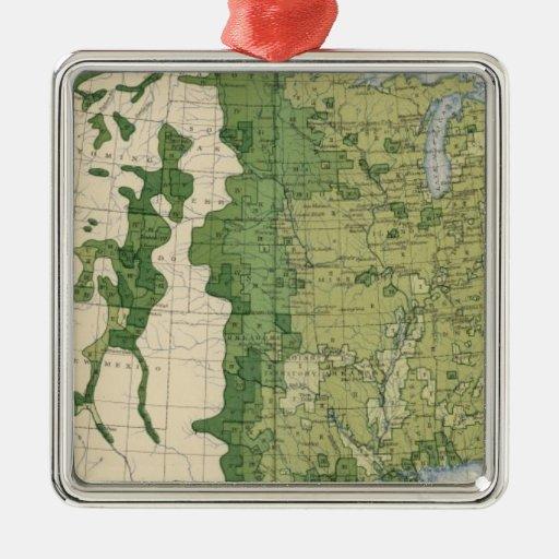 Tamaño 129 de las granjas 1900 adorno navideño cuadrado de metal