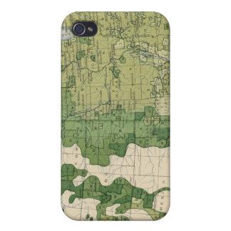Tamaño 129 de las granjas 1900 iPhone 4/4S carcasa