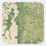 Tamaño 129 de las granjas 1900 pegatina cuadrada