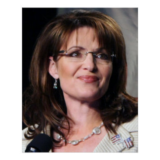 Tamaño colosal de la reunión de Sarah Palin Chambl Poster