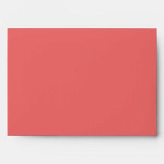 Tamaño coralino sólido A7 del sobre del color #117