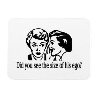 Tamaño de su ego retro iman rectangular