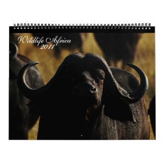 Tamaño enorme de 2011 animales africanos de los ca calendario