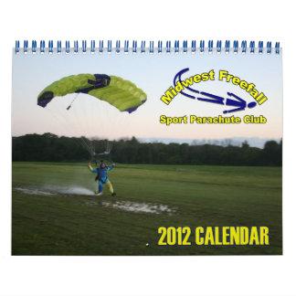 Tamaño estándar del calendario 2012 de la caída