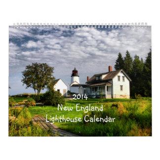 Tamaño estupendo 2014 del calendario del faro de
