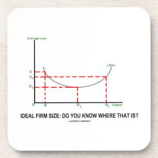 Tamaño firme ideal: ¿Usted sabe donde está eso? Posavaso