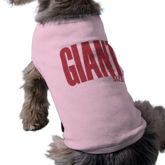 Tamaño gigante camisetas mascota