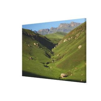 Tamaño grande, el castillo del gigante, montañas d impresión en tela