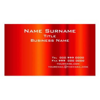 Tamaño normal del negocio y rojo del color, tarjetas de visita