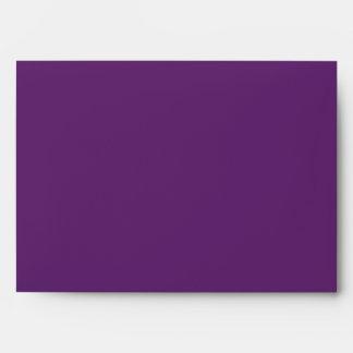 Tamaño púrpura sólido A7 del sobre